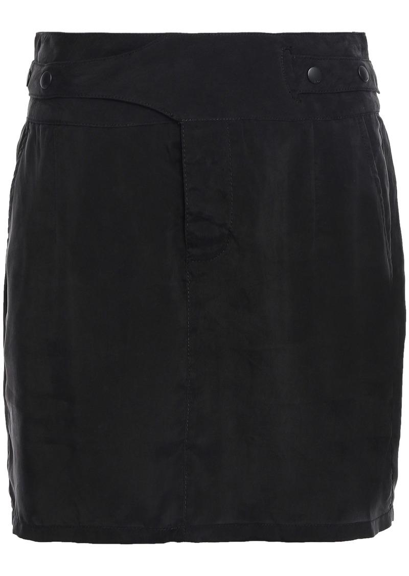 Rta Woman Woven Mini Skirt Black