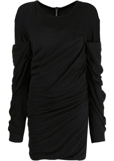 RtA ruched-detail long-sleeve dress