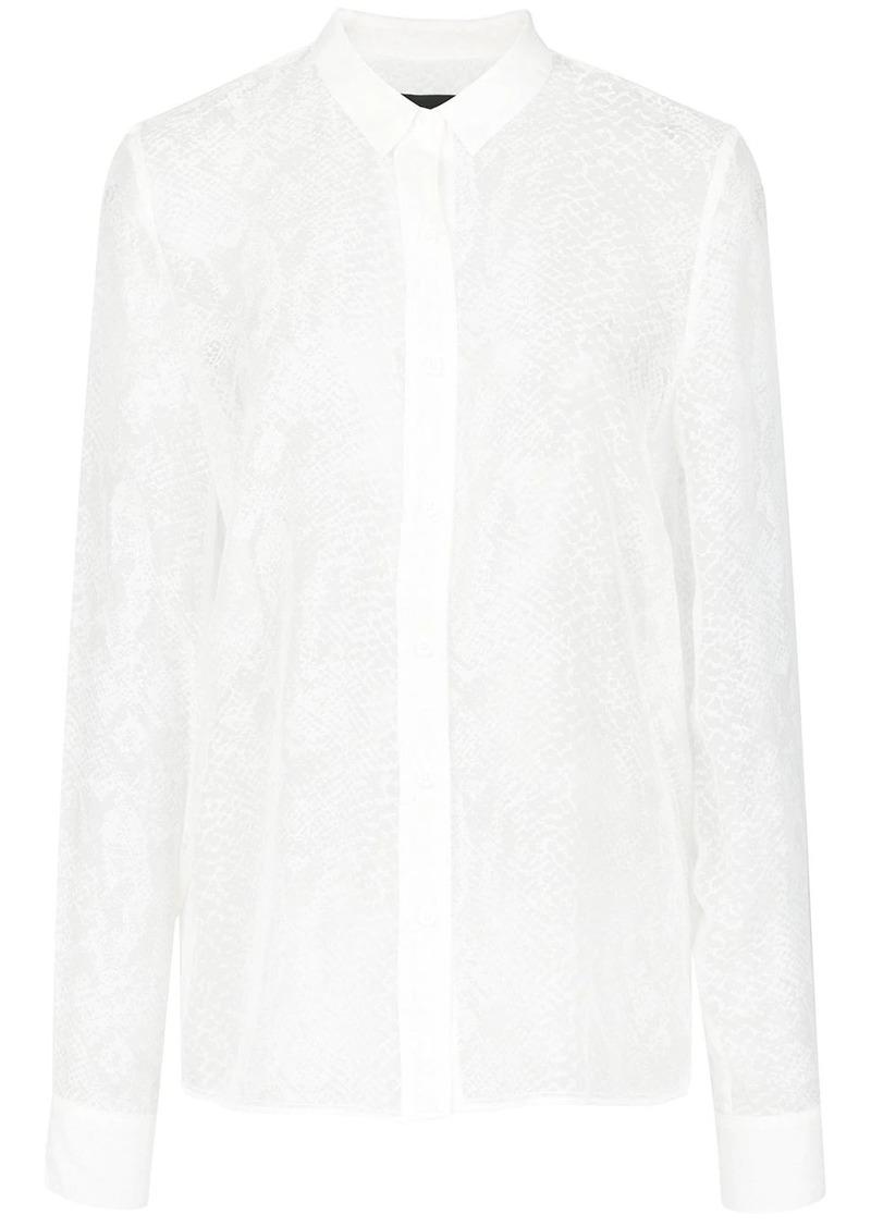RtA snakeskin print shirt