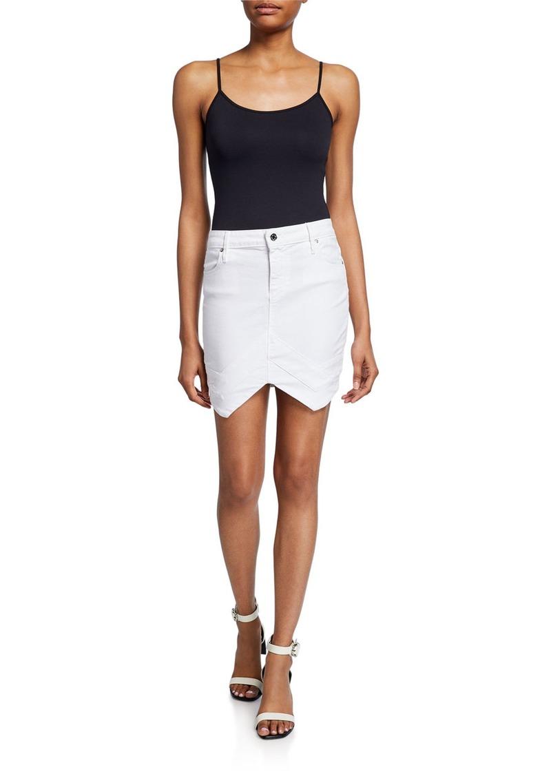 RtA Tempest Arched-Hem Mini Skirt