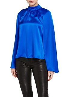 RtA Tennessee Long-Sleeve Silk Top