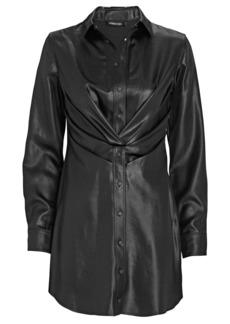 RtA Vivienne Faux Leather Shirt Dress