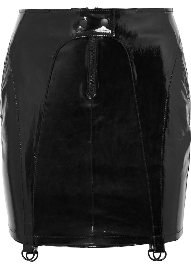 RtA Zander Patent-leather Mini Skirt