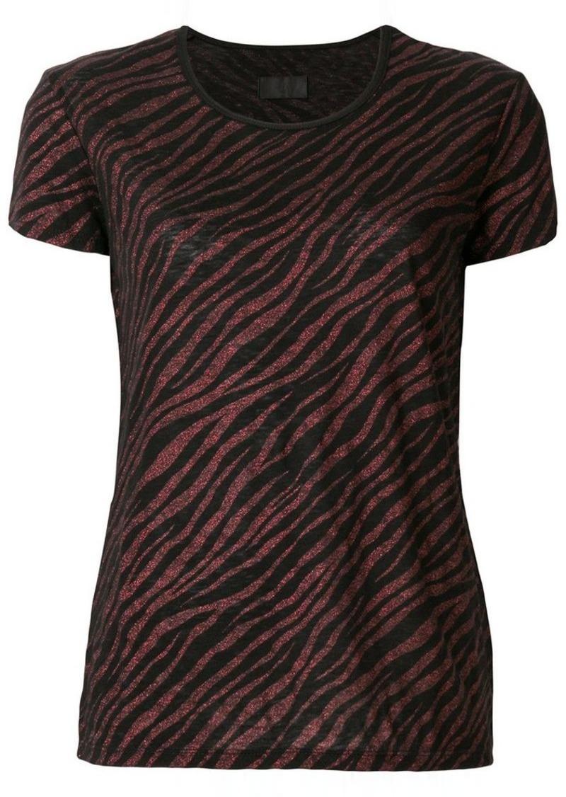 RtA zebra print short-sleeve top
