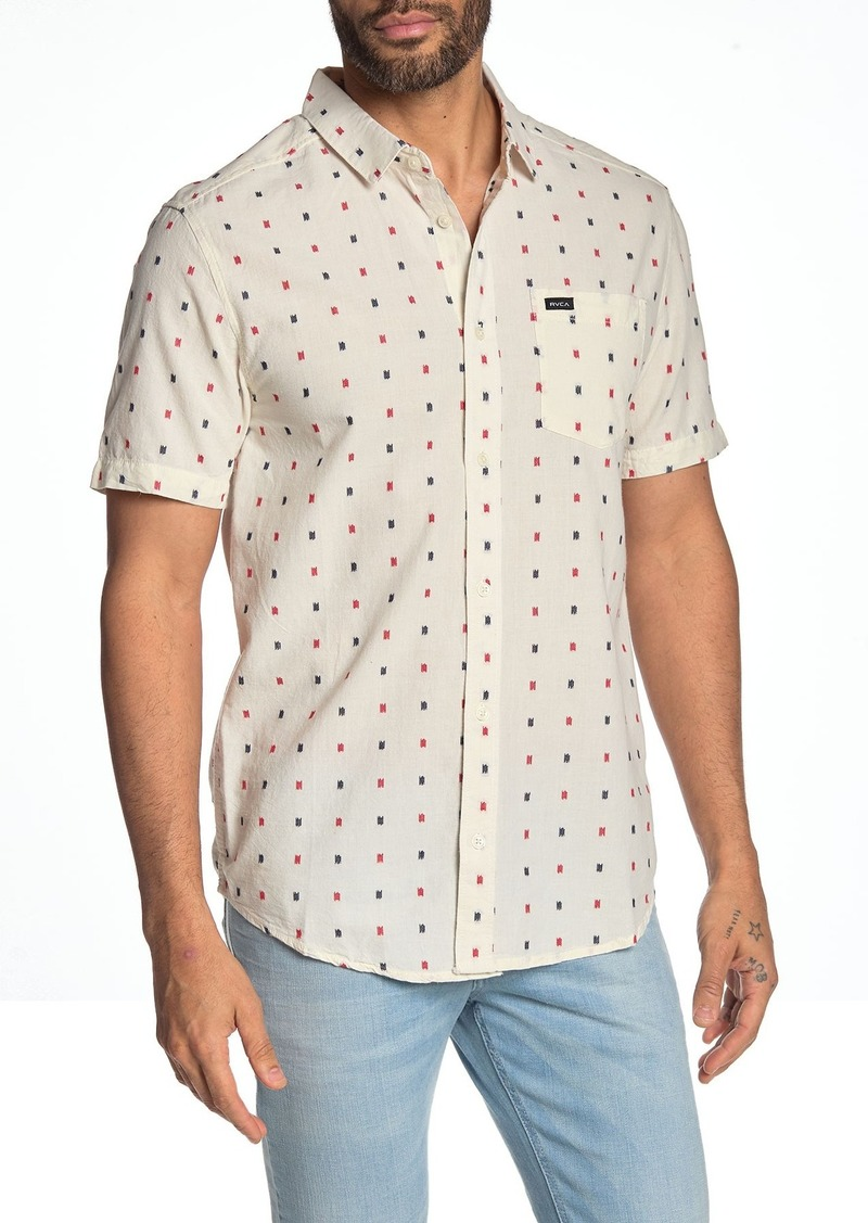 RVCA Aye Kat Short Sleeve Regular Fit Shirt