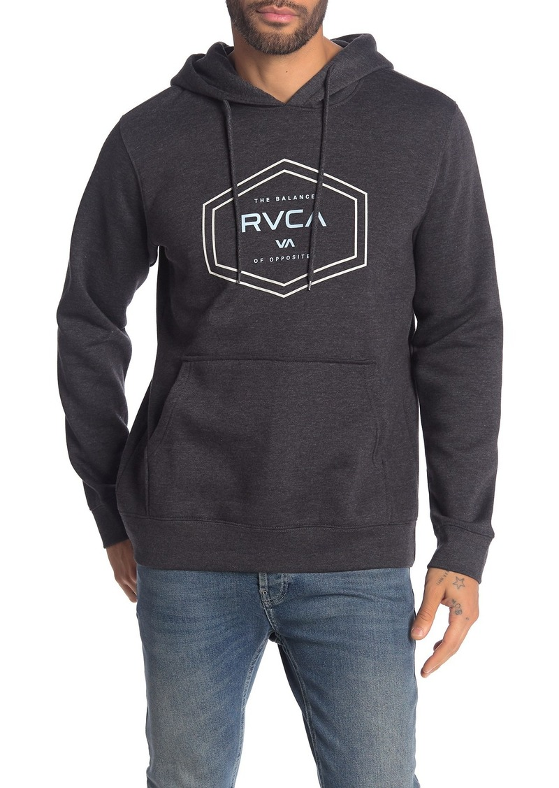 RVCA Brand Double Hex Pullover Hoodie