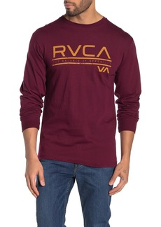 RVCA Distress Stripe Long Sleeve T-Shirt