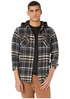 RVCA Essex Plaid Hooded Flannel