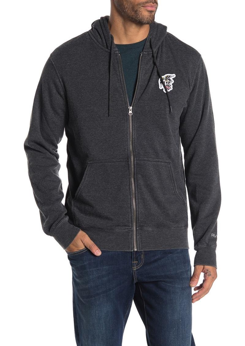 RVCA Foxhole Zip Front Fleece Hoodie