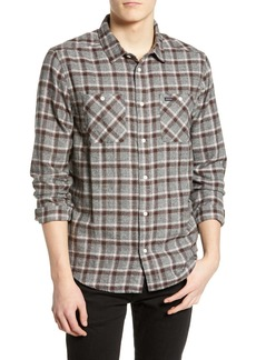 RVCA Hero Plaid Slim Fit Flannel Shirt