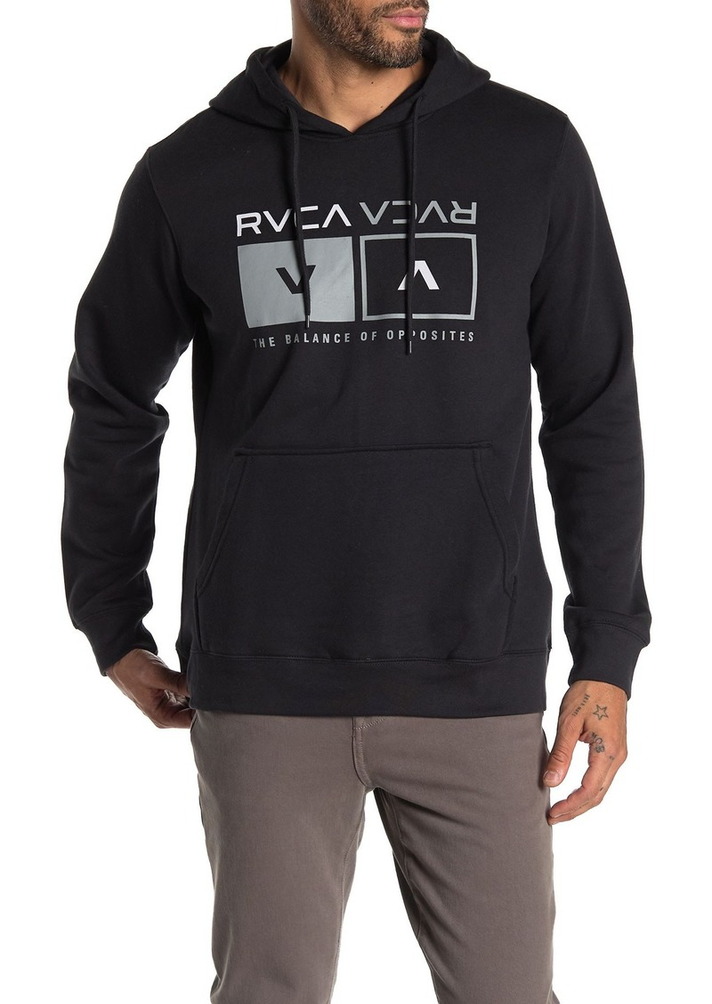 RVCA Logo Print Hoodie