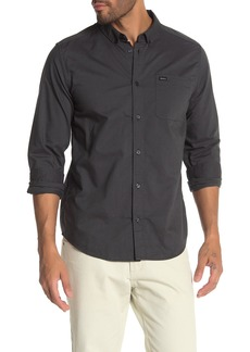 RVCA Long Sleeve Slim Fit Oxford Shirt