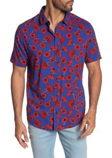 RVCA Peace Poppy Short Sleeve Print Regular Fit Shirt