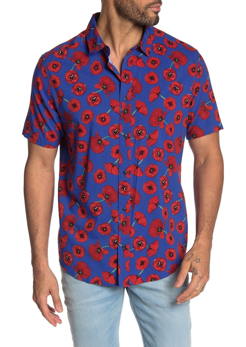 RVCA Peace Poppy Short Sleeve Print Regular Fit Shirt