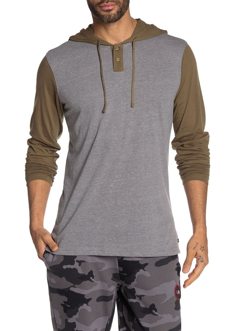 RVCA Pick Up Colorblock Long Sleeve Hoodie T-Shirt