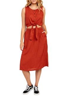 RVCA Arizona Cutout Waist Midi Dress