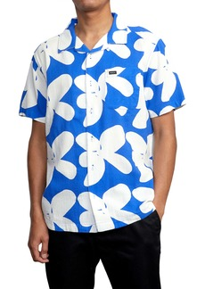 RVCA Bailey Elder Floral Short Sleeve Button-Up Camp Shirt