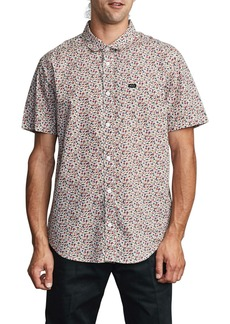 RVCA Bellflower Short Sleeve Button-Up Shirt