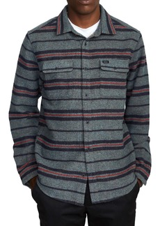 RVCA Blanket Stripe Flannel Button-Up Shirt