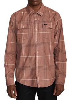 RVCA Blues Walk Plaid Corduroy Button-Up Shirt