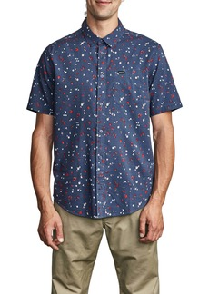 RVCA Calico Floral Short Sleeve Button-Up Shirt