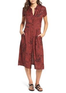 RVCA Caper Leaf Print Midi Dress