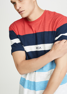 RVCA Courtside Striped Short Sleeve Tee