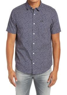 RVCA Ditz Regular Fit Short Sleeve Button-Up Shirt