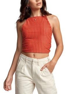 Rvca Eliza Striped Crop Top