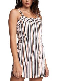 Rvca Emery Cotton Striped Dress