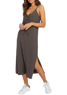 RVCA Equator Lace-Up Midi Dress
