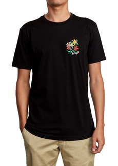 RVCA Floral Embroidered T-Shirt
