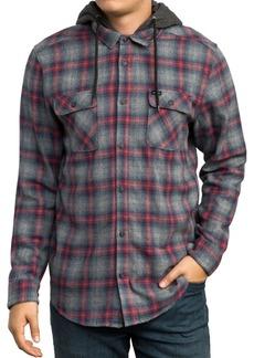 RVCA Good Hombre Hooded Plaid Flannel Shirt