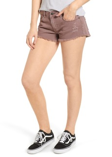 RVCA 'Hello Mellow' Cutoff Denim Shorts