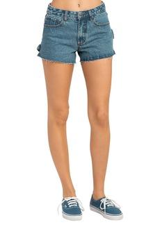RVCA Highly Werked Raw Hem Denim Shorts (Vintage Indigo)