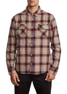 RVCA Hostile Plaid Button-Up Flannel Shirt