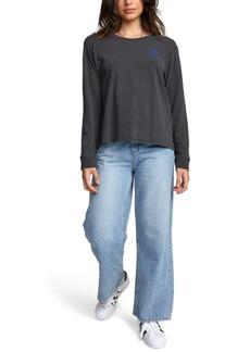 Rvca Jesse Palm Cotton Long-Sleeve Graphic T-Shirt