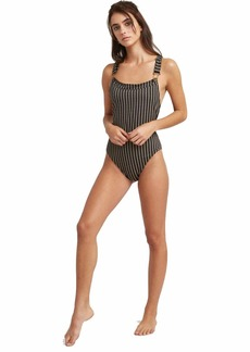 RVCA Junior's Amalfi Cheeky Onepiece Swimsuit  M