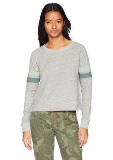 RVCA Junior's at Ease Crew Neck Fleece Sweatshirt  S