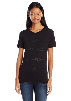RVCA Juniors Balance Sheen Crew Neck Graphic Tee