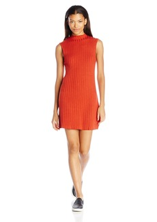 RVCA Juniors Banked High Neck Swing Sweater Dress