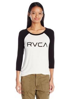RVCA Junior's Big Raglan T-Shirt  L
