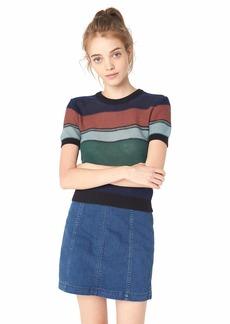 RVCA Junior's BRIGHTSIDESHORT Sleeve Sweater  XL