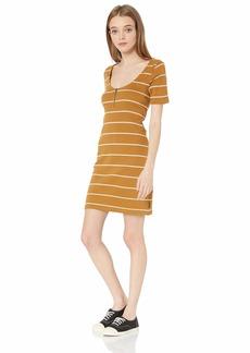 RVCA Junior's Donner Scoop Neck Dress  M