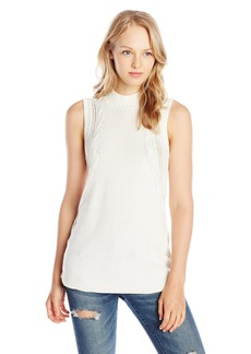 RVCA Junior's Down ow Tunic Sleeveless Turtle Neck Sweater  arge