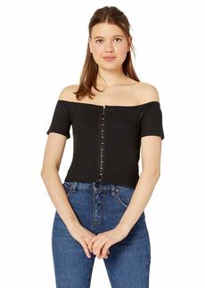 RVCA Junior's Ella Crop TOP Shirt  M