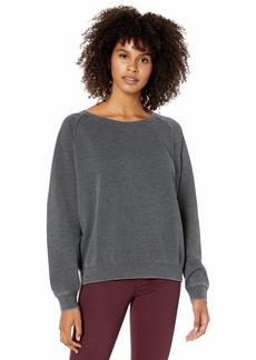 RVCA Junior's Everyday Label Crew Neck Sweatshirt  XL