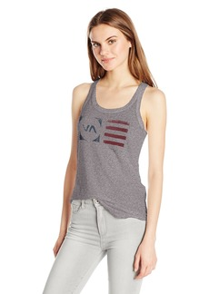 RVCA Junior's Flag Stamped Fitted Tank  S