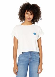 RVCA Junior's Happy SAD Short Sleeve Crew Neck T-Shirt  S