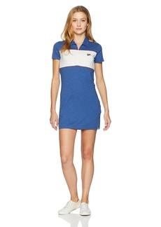 RVCA Junior's HEX Zip Front Polo Dress  L